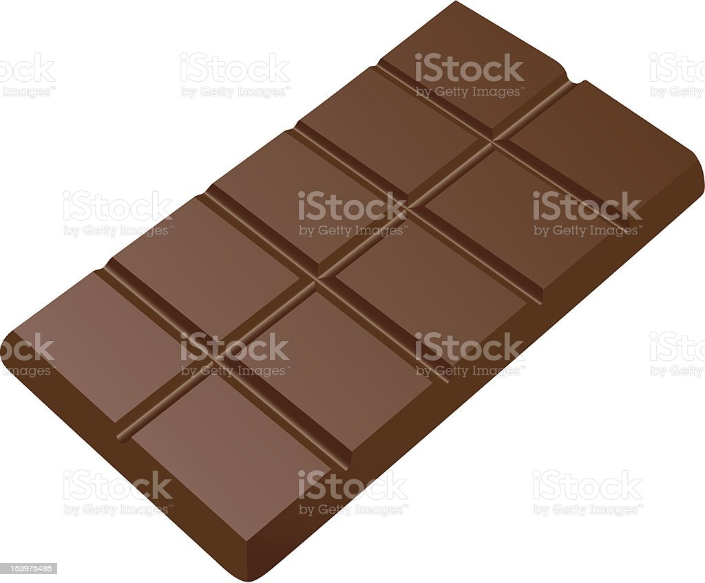 Bar of chocolate royalty-free stock vector art