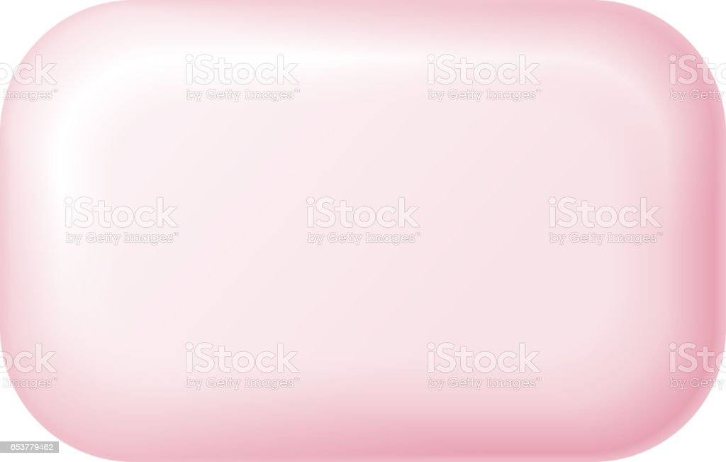 Bar of soap isolated on white. Easy recolored vector vector art illustration