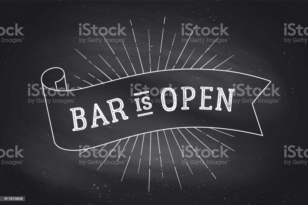 Bar Open. Chalkboard royalty-free bar open chalkboard stock illustration - download image now