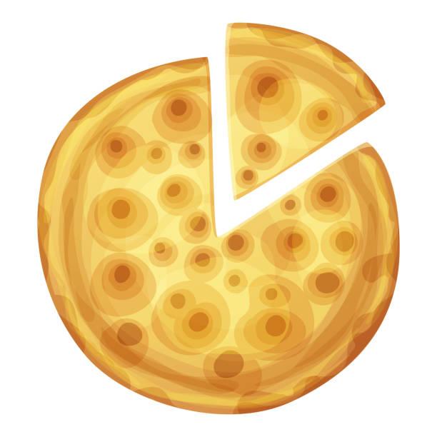 bar-pizza draufsicht. cartoon-vektor-essen - gluten stock-grafiken, -clipart, -cartoons und -symbole