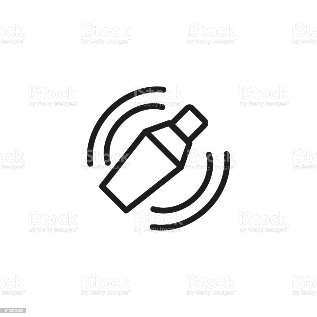 Bar Shaker Line Icon vector art illustration