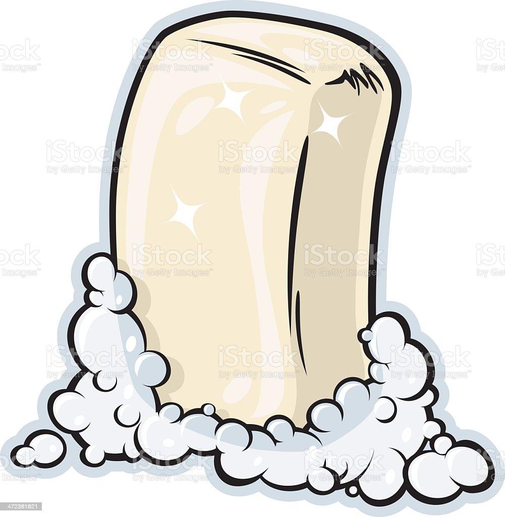 Bar Soap vector art illustration