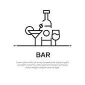 Bar Vector Line Icon - Simple Thin Line Icon, Premium Quality Design Element