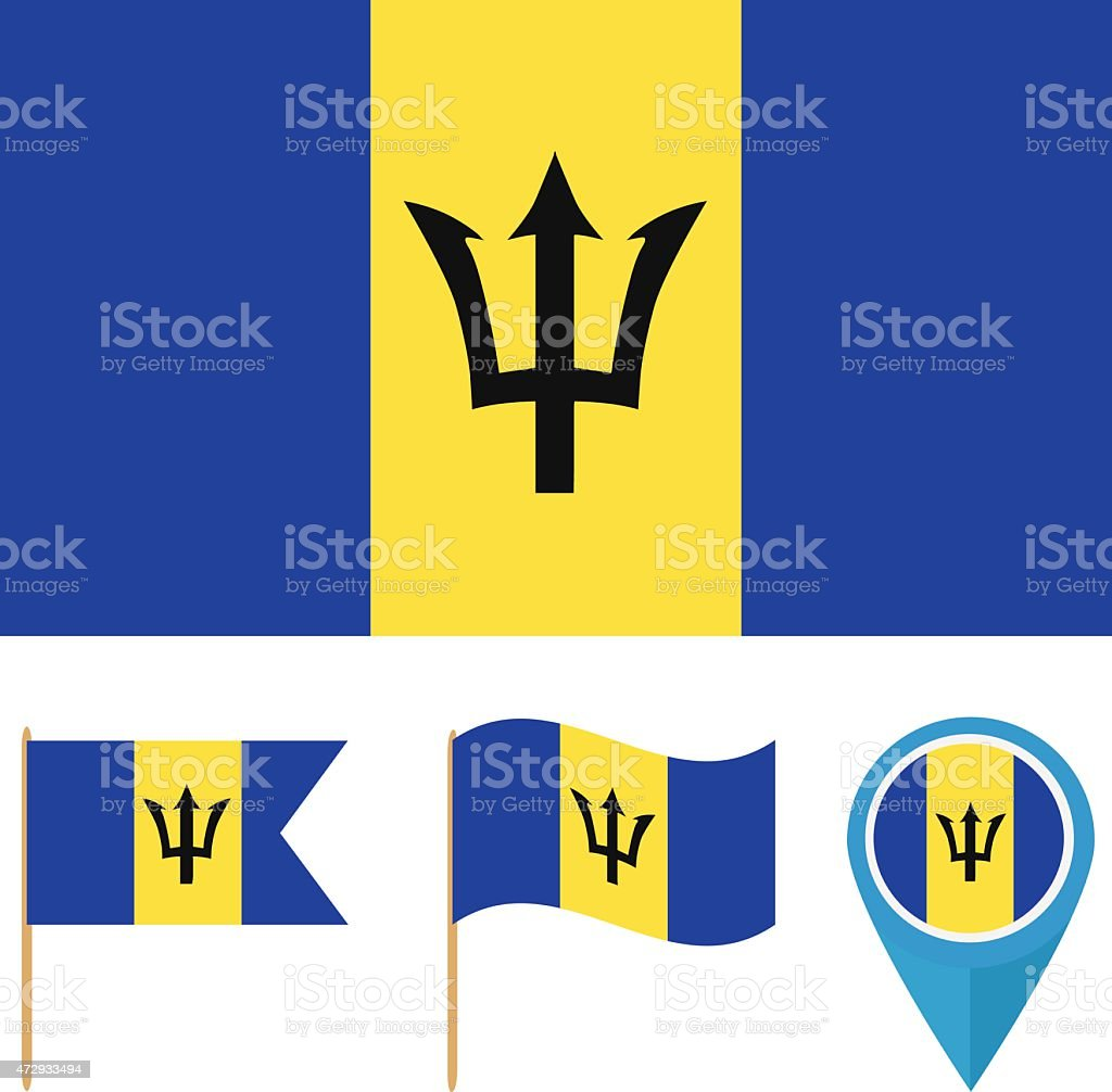 Barbados Country Flag Stock Vector Art More Images Of 2015