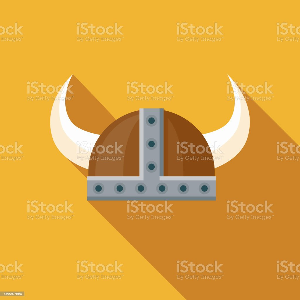 Barbarian Helm Flat Design Fantasy Icon royalty-free barbarian helm flat design fantasy icon stock vector art & more images of adventure