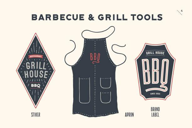 Barbecue and grill tools - illustrazione arte vettoriale