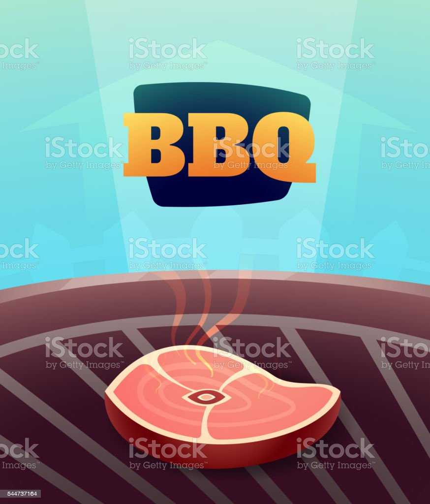 barbecue bbq party invitation card illustration poster background