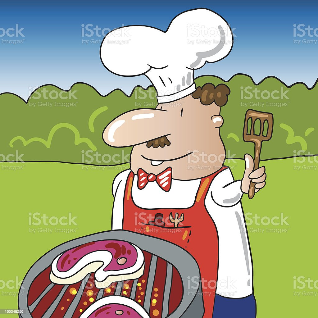 barbecue chef royalty-free stock vector art