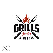istock BBQ, barbecue, grill and bar, label, badge 1290018324