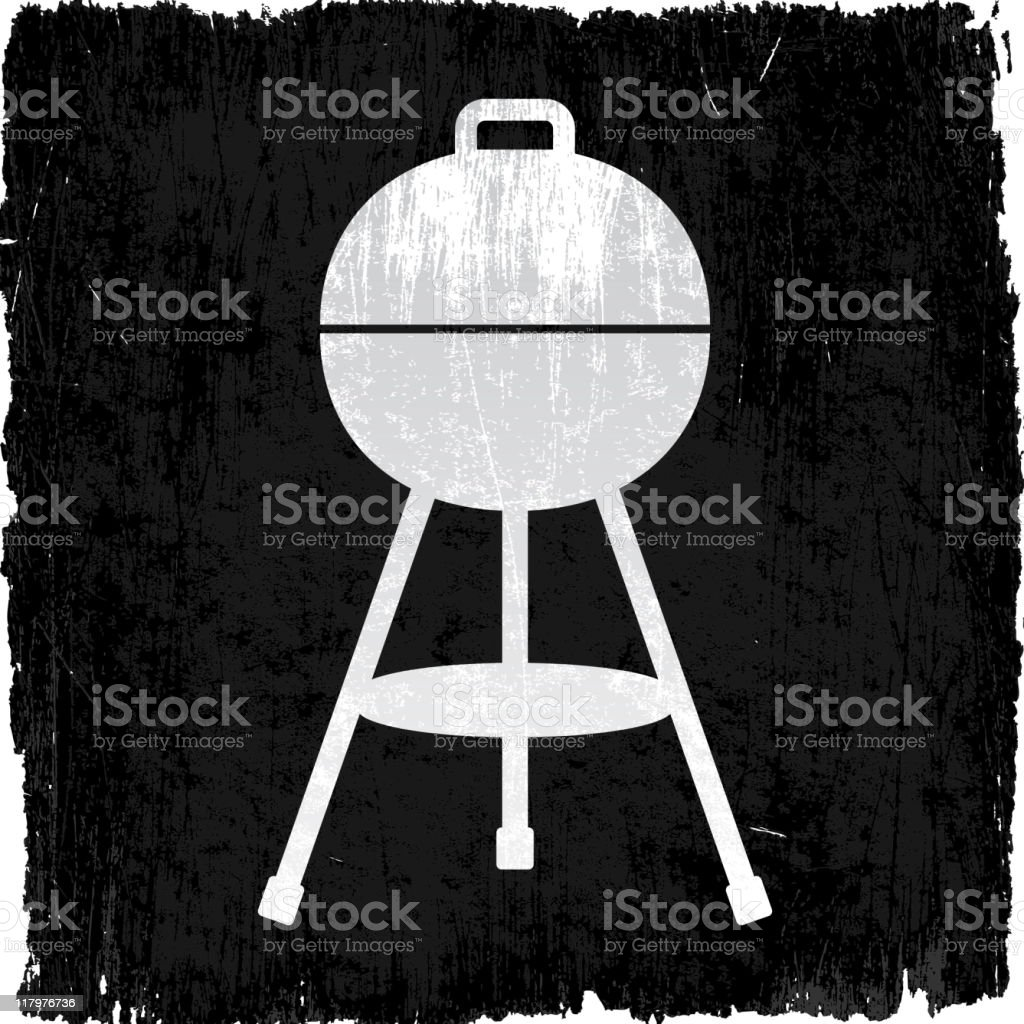 barbecue grill on royalty free vector Background royalty-free stock vector art