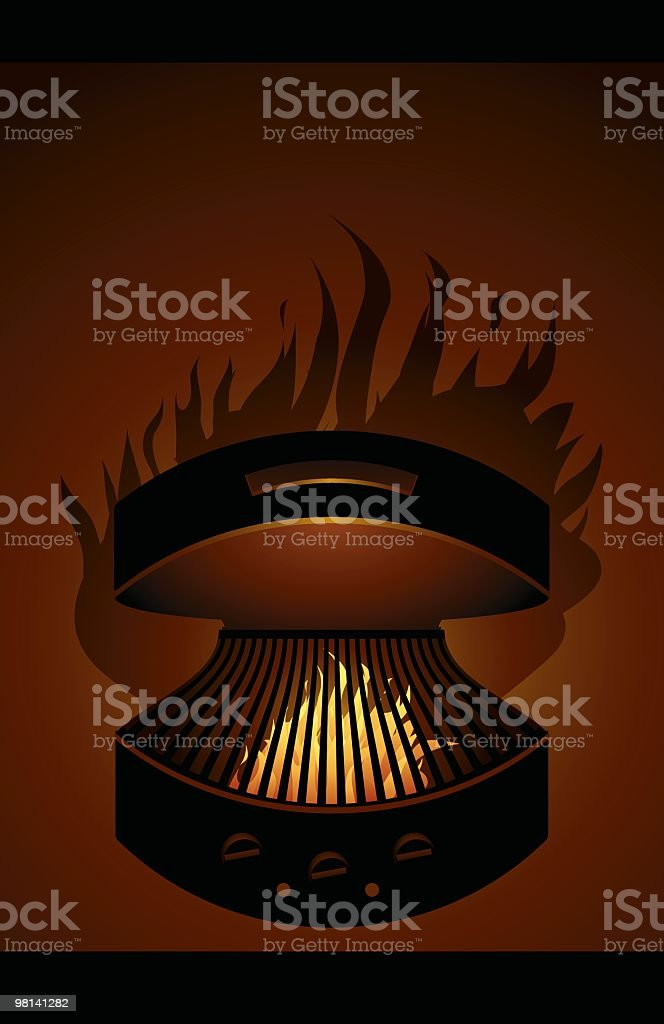 Barbecue Grill - Open Flame royalty-free barbecue grill open flame stock vector art & more images of barbecue grill