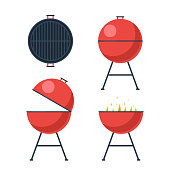 Barbecue grill set