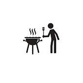 Simple vector illustration design of Barbecue grill icon