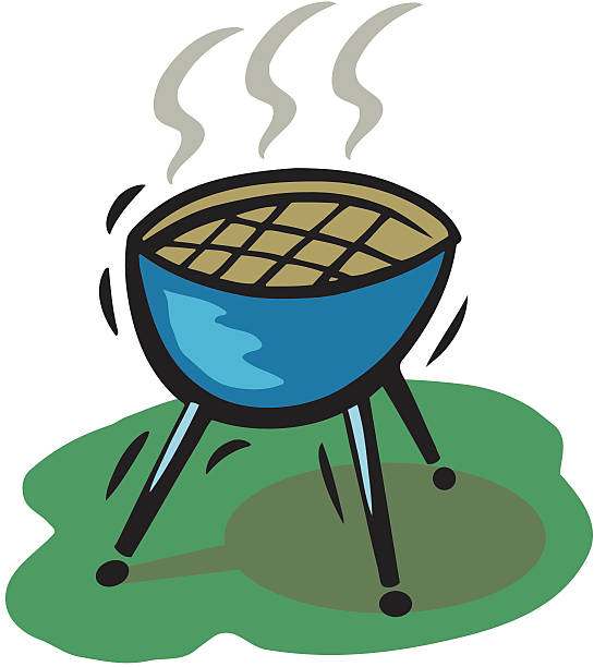 Barbecue Grill vector art illustration