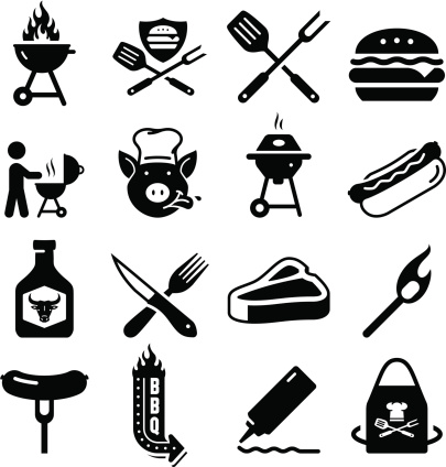Barbecue Icons - Black Series