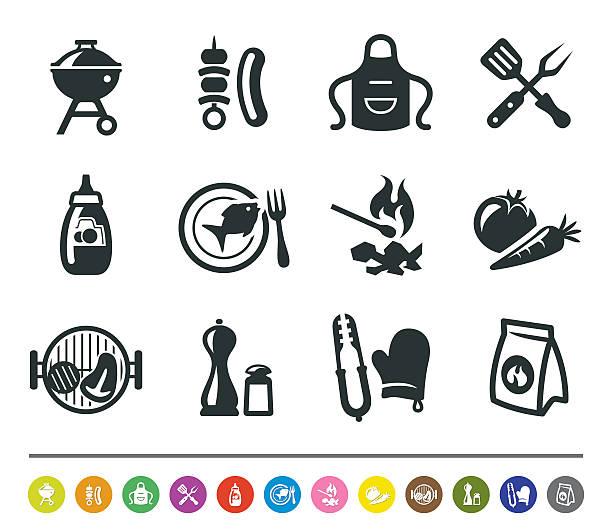 Barbecue icons/siprocon collezione - illustrazione arte vettoriale