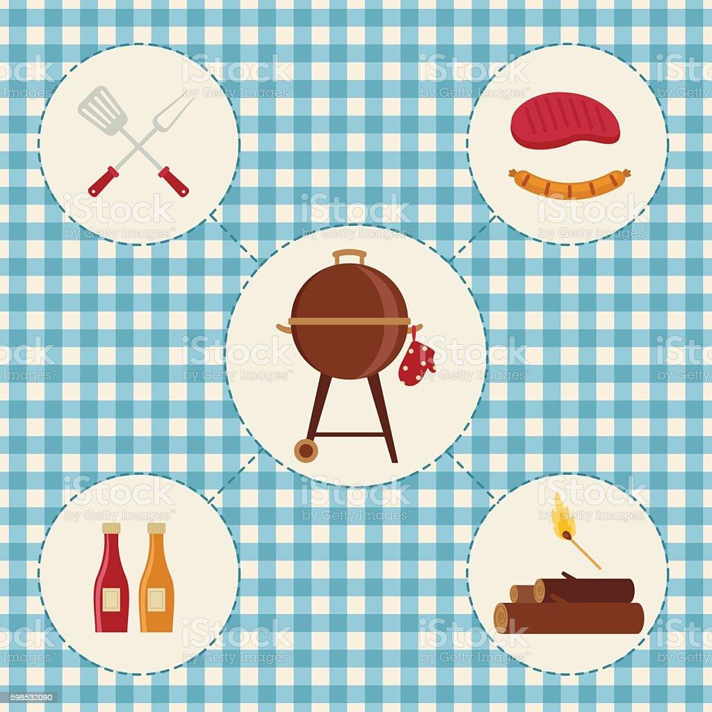 Icônes de Barbecue icônes de barbecue – cliparts vectoriels et plus d'images de aliment libre de droits