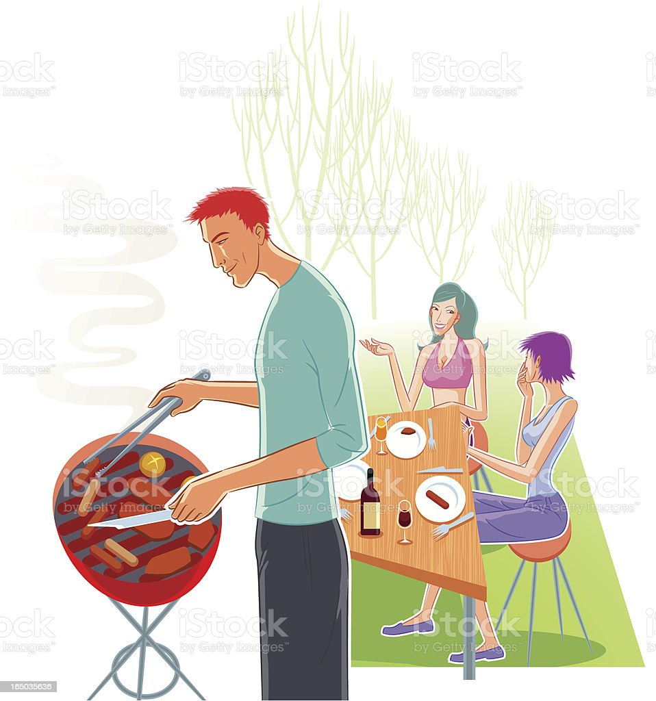 barbecue in the park royalty-free barbecue in the park stock vector art & more images of adult
