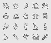 Barbecue line icon