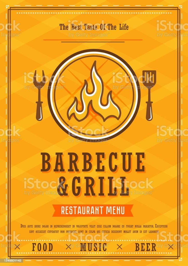 Barbecue Menu Design Template Vectror Stock Illustration Download Image Now Istock