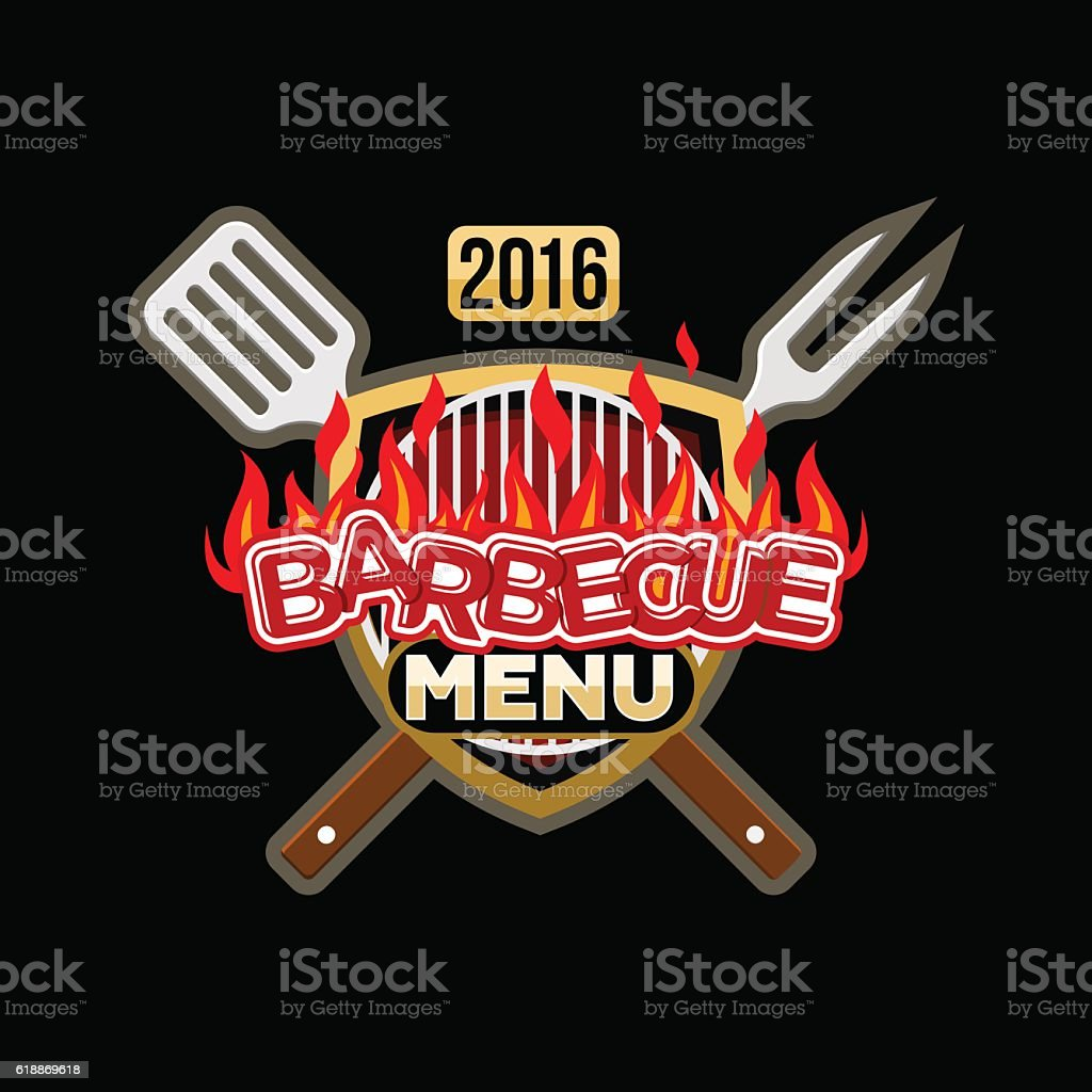 barbecue menu logo menu template stock vector art 618869618 istock