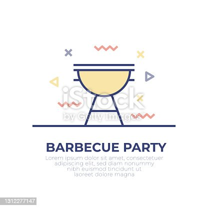 istock Barbecue Outline Icon 1312277147