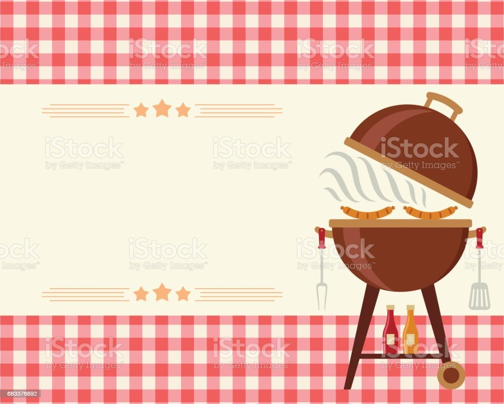 Invitation barbecue à vide - Illustration vectorielle