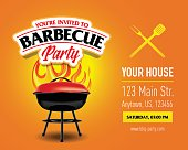 Barbecue party design template, Barbecue invitation.