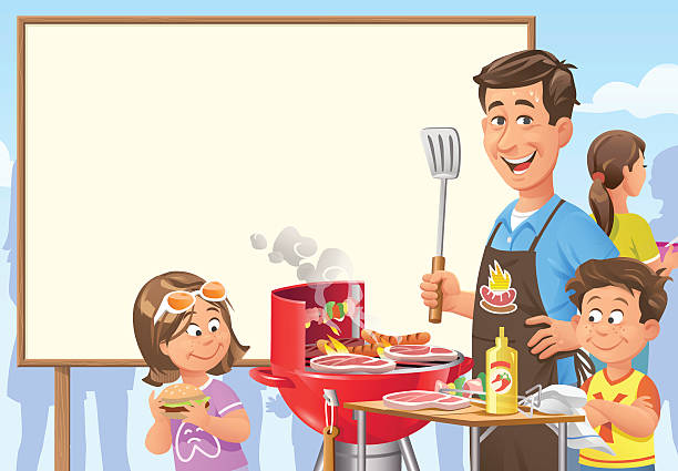 Barbecue Party Invitation vector art illustration