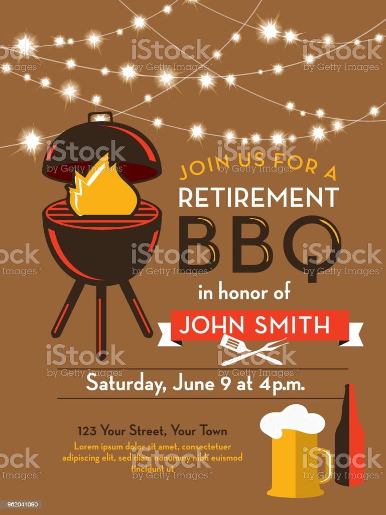 Barbecue retirement party invitation design template stock vector barbecue retirement party invitation design template royalty free barbecue retirement party invitation design template stock stopboris Image collections