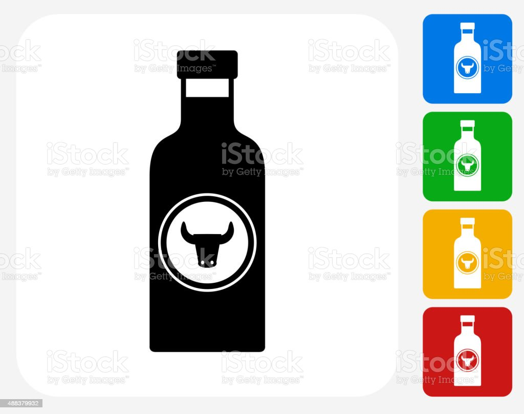 Barbecue Sauce Icon Flat Graphic Design vector art illustration