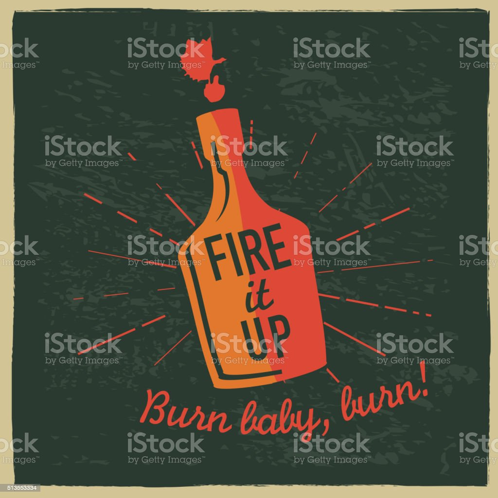Barbecue sauce label design with text vector art illustration
