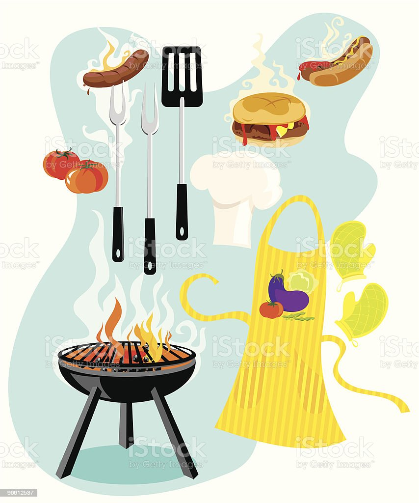 Barbecue Time vector art illustration
