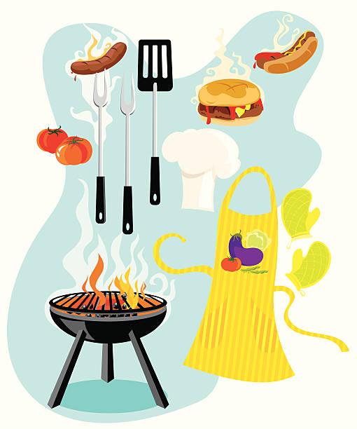 Barbecue tempo - illustrazione arte vettoriale