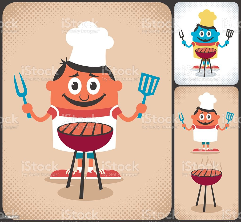 Barbecue vector art illustration