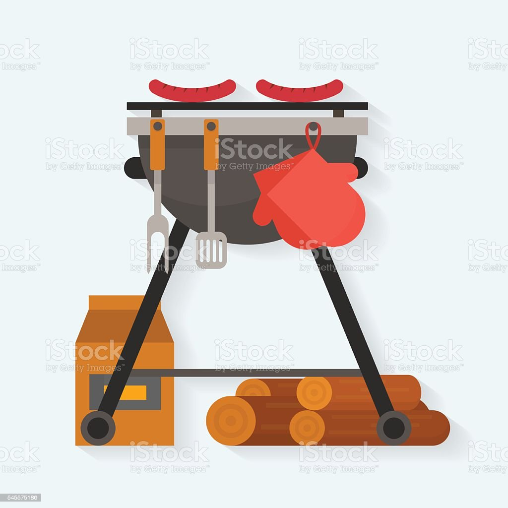 Barbecue. vector art illustration