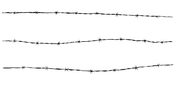 Barbed Wire Accent  ( Vector )