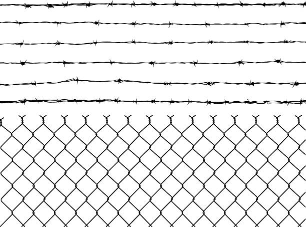 Barbed Wire Illustrations, Royalty-Free Vector Graphics