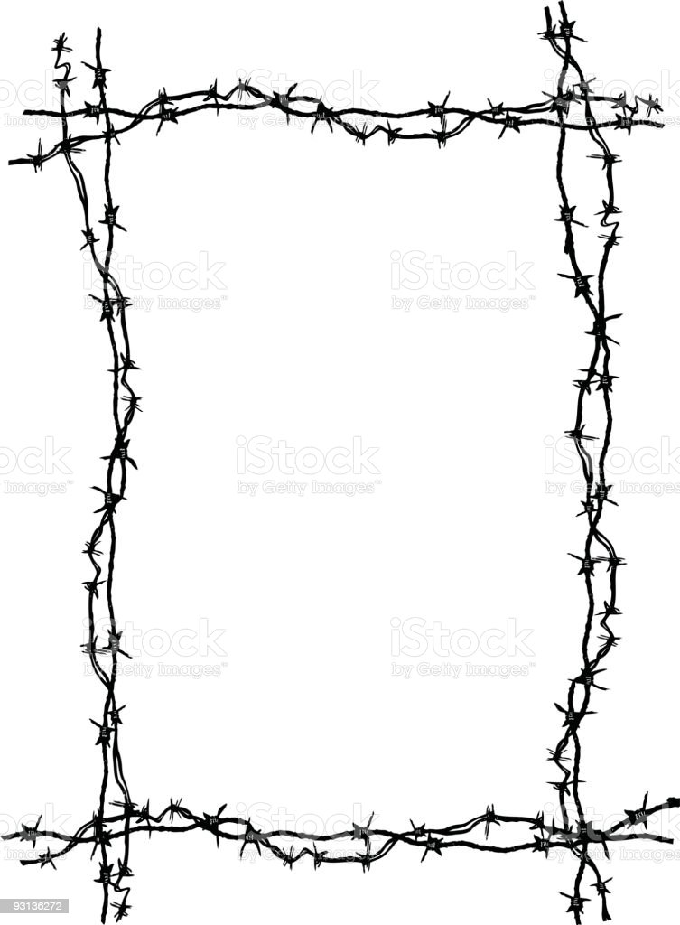 Barbed Wire Frame Stock Vector Art & More Images of Backgrounds ...