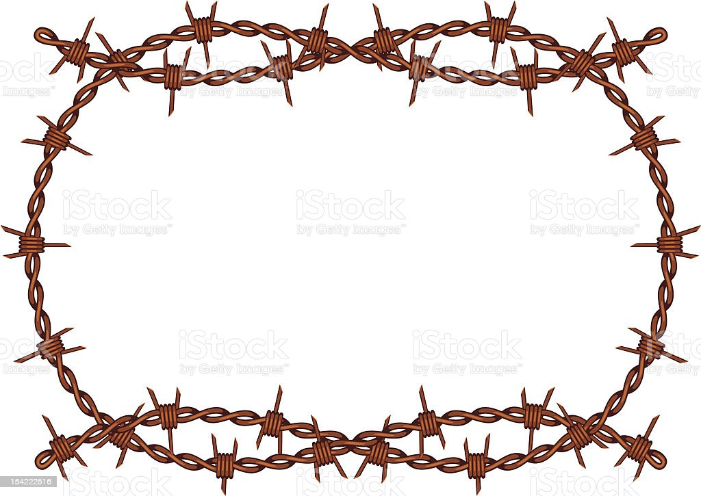 royalty free barbed wire clip art vector images illustrations rh istockphoto com barbed wire clip art free barbed wire clip art borders free