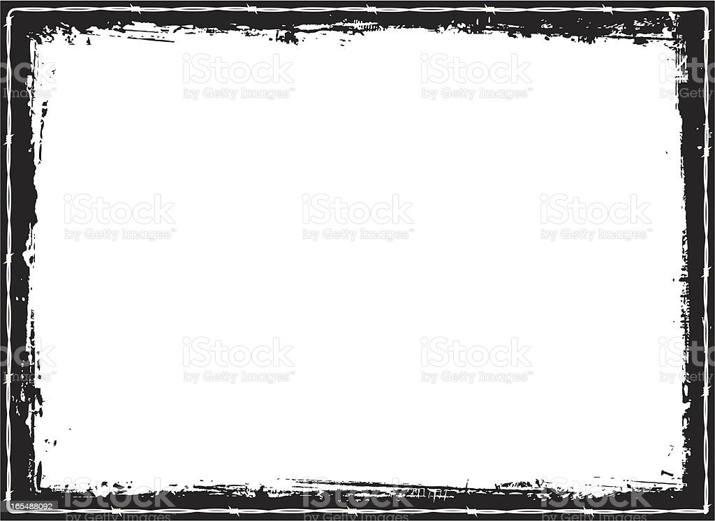 Barbed Wire Grunge Border Stock Vector Art & More Images of Barbed ...