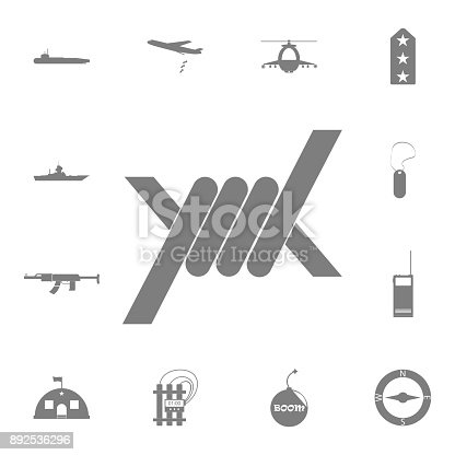 Barbed Wire Icon Set Of Military Elements Icon Quality Graphic ...