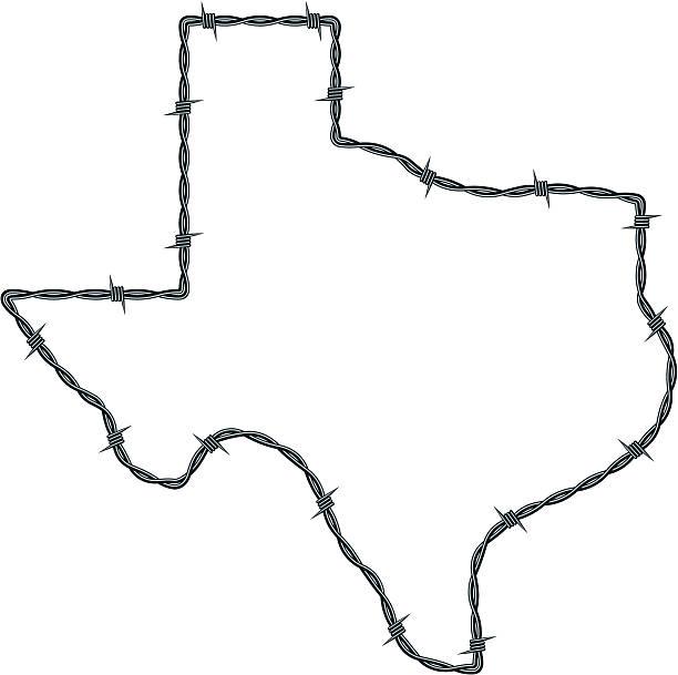 Alambre de espino Texas - ilustración de arte vectorial