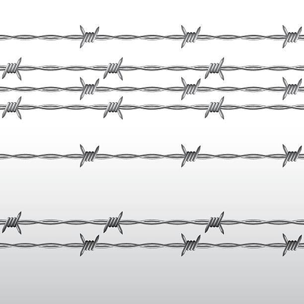 Alambre de espino - ilustración de arte vectorial
