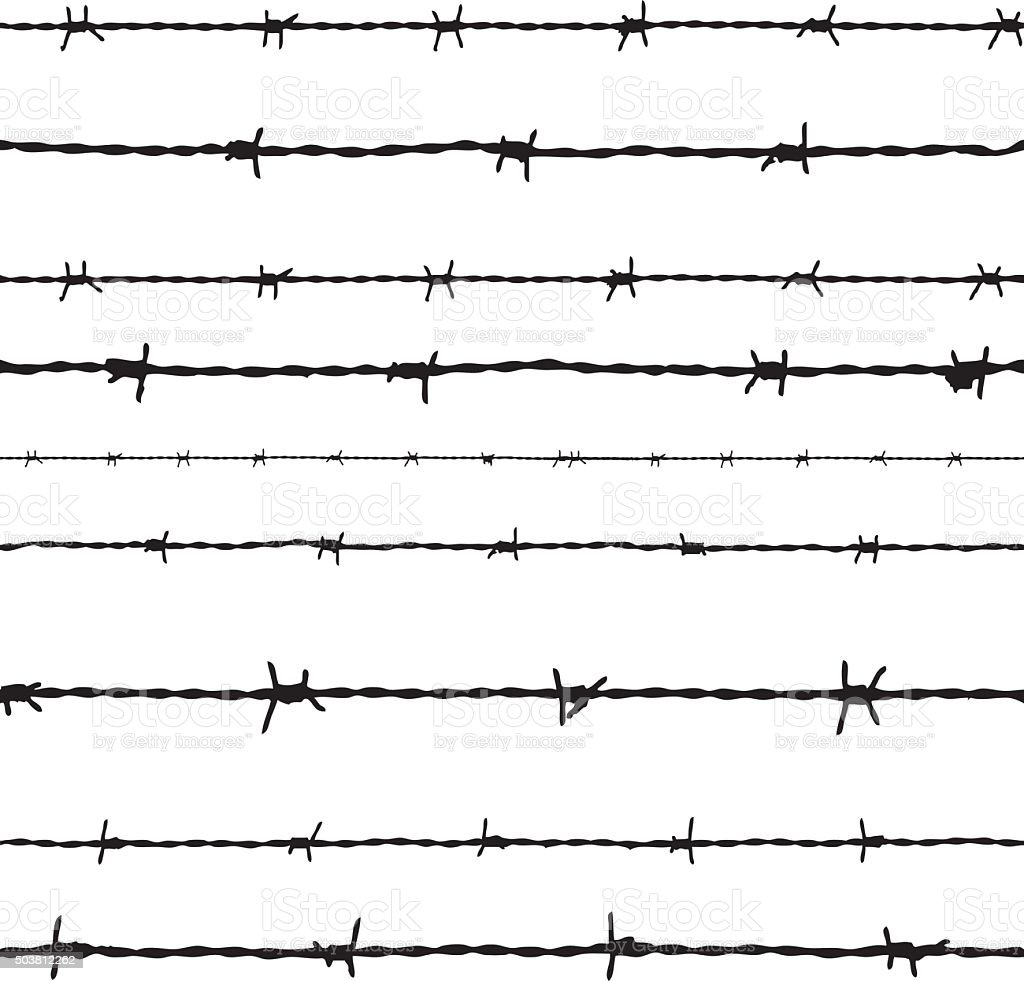 Barbed wire vector stock art more images of