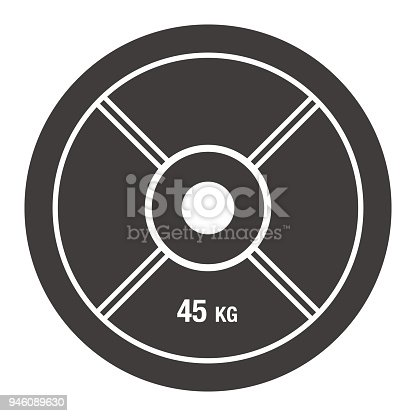 Vector of Barbell Plate Icon