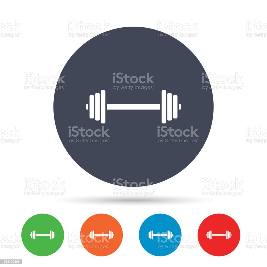 Barbell sign icon. Muscle lifting symbol. royalty-free barbell sign icon muscle lifting symbol stock vector art & more images of art