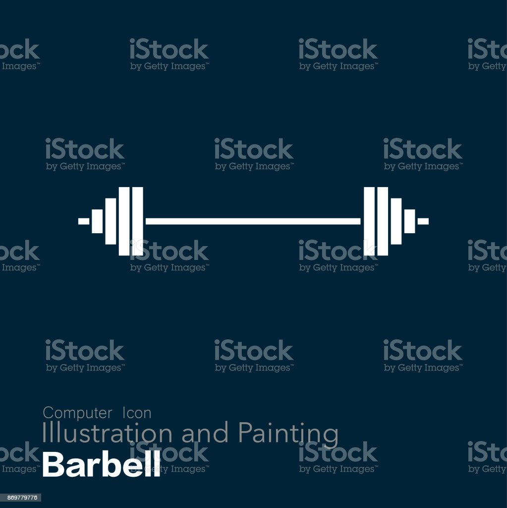 barbell vector art illustration