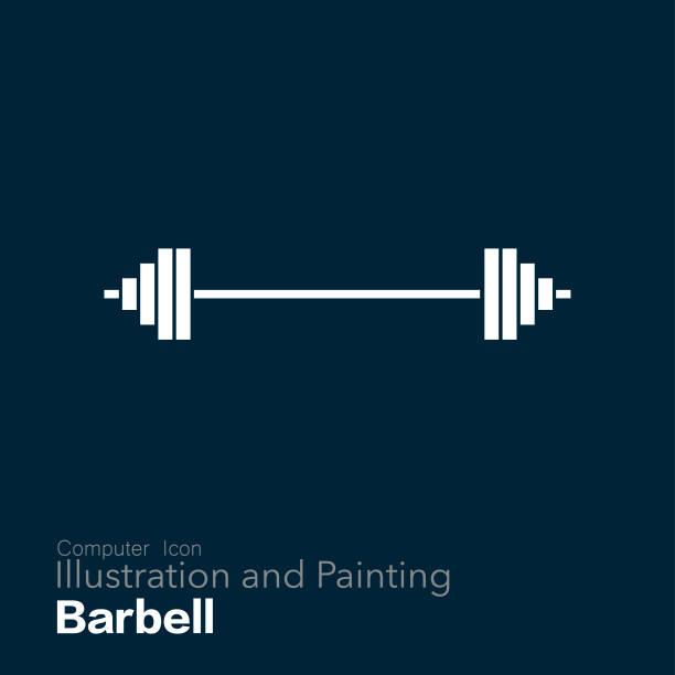 barbell vector art illustration