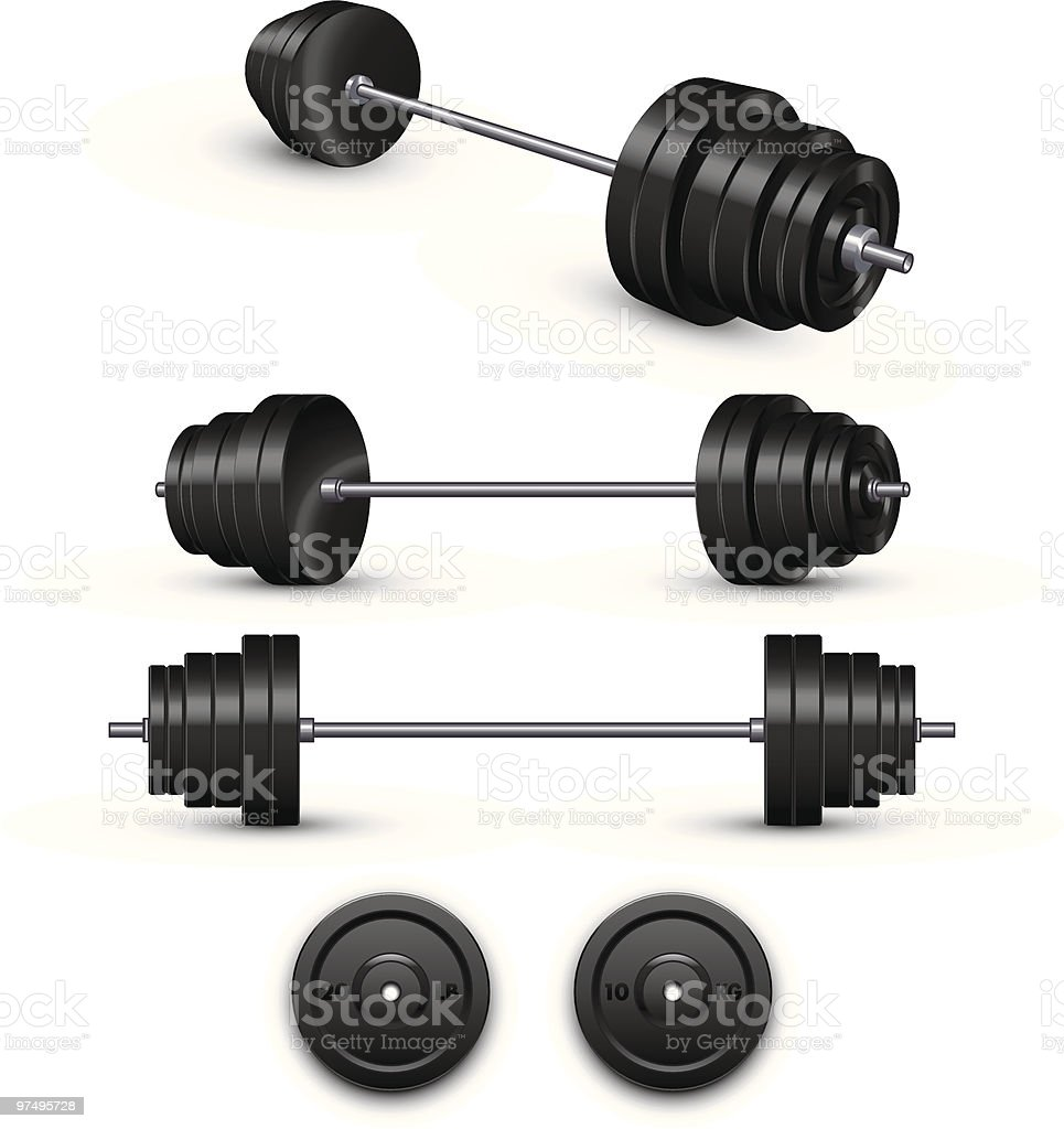 Barbell royalty-free barbell stock vector art & more images of barbell